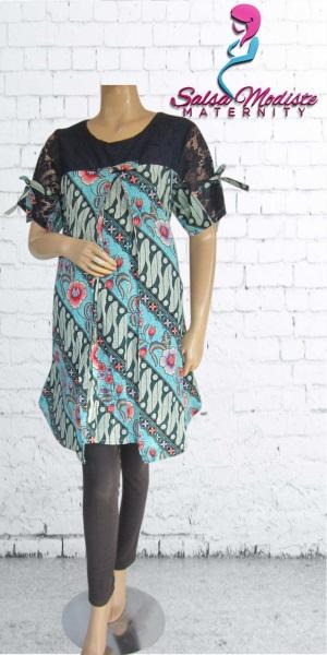 Dress Hamil dan Menyusui Batik Lace Pita [DHS405]