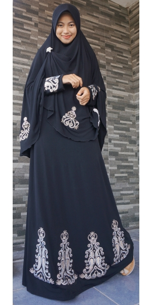 Gamis Iwakuni Arabia Bordir Perak Gi9723