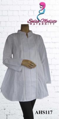 Baju Hamil dan Menyusui Putih Standar [AHS117]