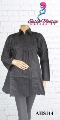 Baju Hamil dan Menyusui kerja khusus Hitam & Putih [AHS114]
