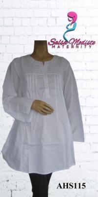 Baju Hamil dan Menyusui Putih Jumbo [AHS115]