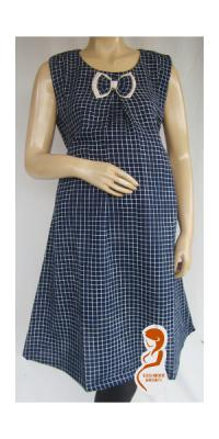 Dress Hamil Kutung Kotak [DH741]