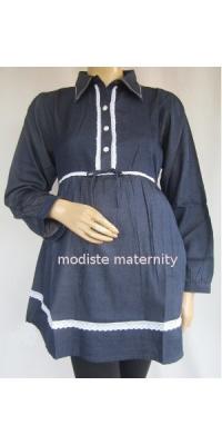 Baju Hamil dan Menyusui Denim List [AP421]