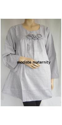 Baju Hamil Linen Bros Mawar  [AP281]