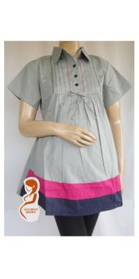 Baju Hamil dan Menyusui Kerja Rainbow Pendek [AP812]