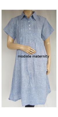 Dress Hamil dan Menyusui Kerja Linen [DH339]