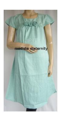 Dress Hamil Linen Mawar [DH331]
