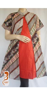 Dress Hmail dan Menyusui Batik Pias [DH712]