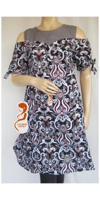 Dress Hamil Menyusui Batik Marin [DH787]