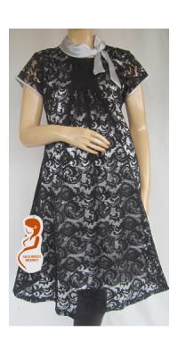 Dress Hamil Pesta Brokat Sabrina [DH771]