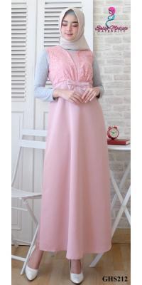 Dress hamil menyusui&hamil kutungan brokat [GHS212]
